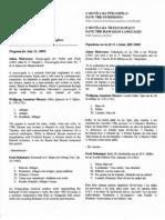 Pō Ilina Wai 2009-07-31 program