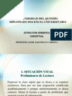 Docencia Universitaria Estructura Semantica Conceptual. ESC