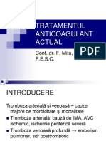 Tratamentul Anticoagulant Actual