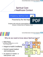 Spiritual Care Present at i i On