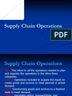 Supply Chain Operations