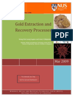 Gold Extraction and Recovery Processes