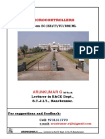 4 Th Sem Microcontroller Notes by Arunkumar