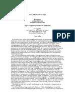Hegel, Georg Wilhelm Friedrich - Rezensionen aus den Jahrbüchern für wissenschaftliche Kritik