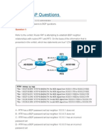 BGP Questions