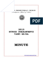 SYNOD 2013 MINUTES