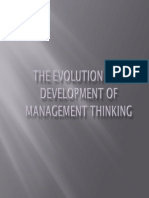 The Evolution and Development of Management Thinking