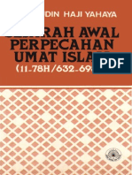 Sejarah Awal Perpecahan Umat Islam (11-78H/632-698M)
