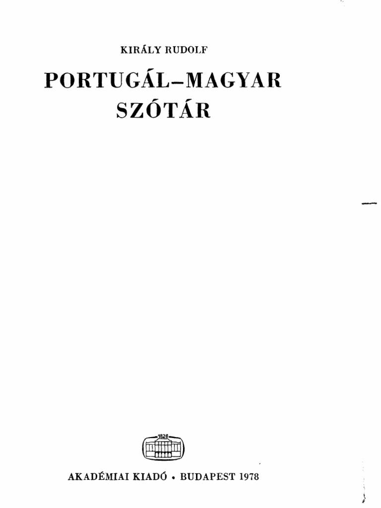 Portugál-magyar kéziszótár b5e61c10d4
