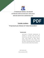Relatório - Programação para Sistema de Volume Intermediário