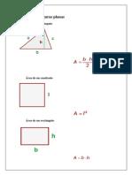 Áreas de las figuras plana1