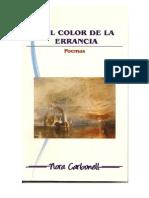 DEL COLOR DE LA ERRANCIA. Carbonell Nora. Poemas. 1a. Ed. virtual.