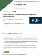 Re_ P-Delta Effect Plus Time-History Analysis or Response Spectrum Analysis