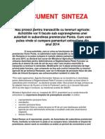 Document Sinteza - Vinzare Terenuri Din 2014