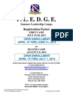 2013 PLEDGE Registration Packet