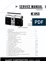 Sharp GF9696H Portable Radio Cassette Sm