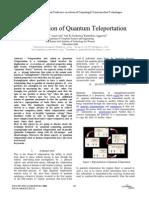 An Investigation of Quantum Teleportation