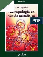 Antropología en vez de metafísica. Ernst Tugendhat
