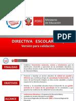 Directiva inicio del año escolar 2014