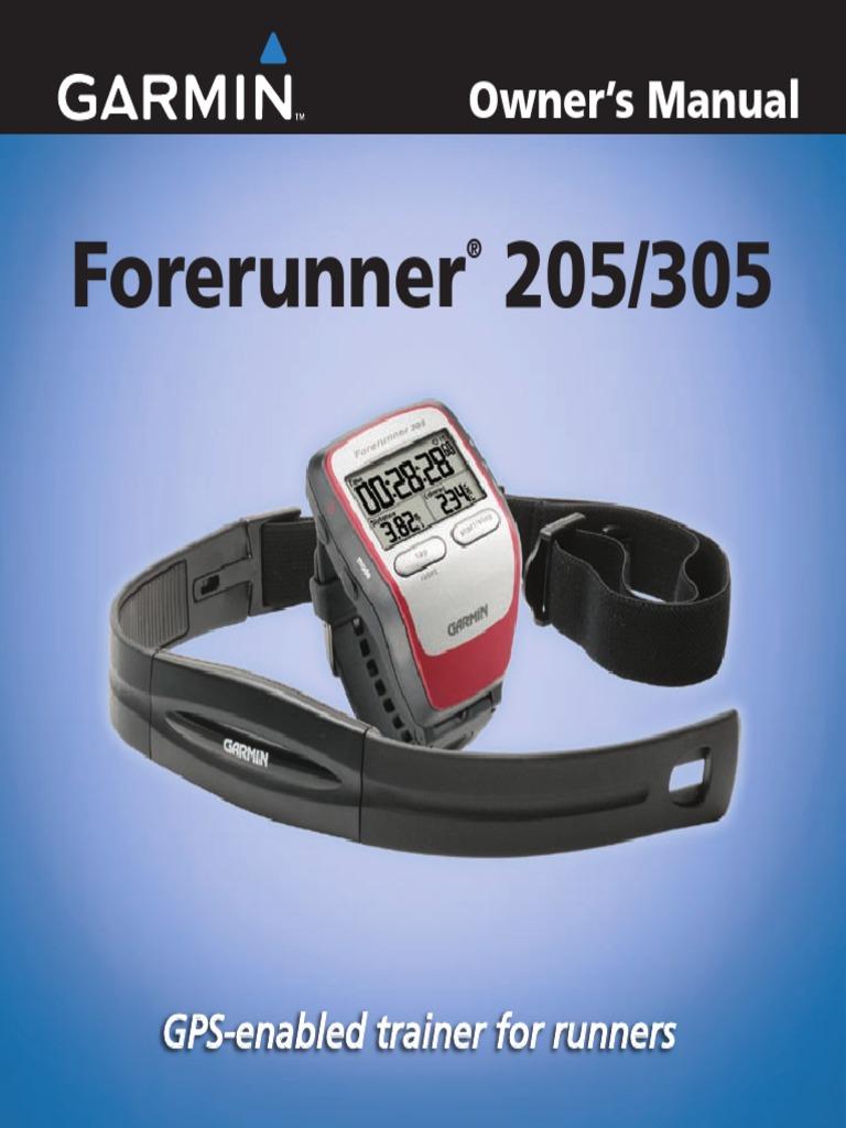 garmin forerunner 205 manual heart rate global positioning system rh scribd com garmin forerunner 205 manual portugues garmin forerunner 205 dansk manual