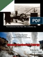 Geothermal Energy and Palestine
