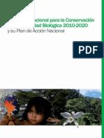 Estrategia Nacional de Conservacion 2010-2020