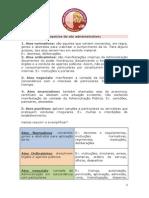 PattyDicas - Classificação & Espécies de Atos Administrativos