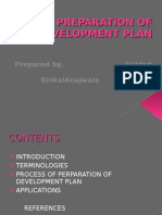 Preparation of Development Plan