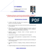 s p Mishra Resume Latest