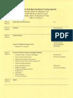 budget agenda