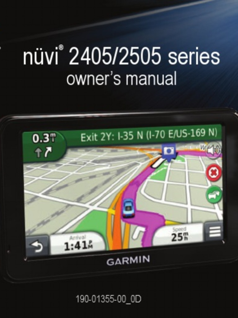 garmin nuvi 2405 2505 series om fuel economy in automobiles rh scribd com Garmin Nuvi 2505 Carrying Case Reset Garmin Nuvi 2505
