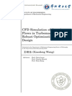CFD Simulation of Complex Flows in Turbomachinery and Robust Optimization of Blade Design