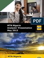 2013 05 - MTN NG Investor Day Nigeria