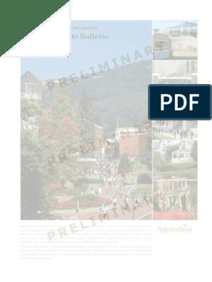 2009-2010 Undergraduate Bulletin - Preliminary Copy as of 5