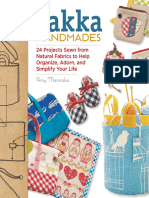 Zakka Handmades 24 Projects Sewn From Natural Fabrics to Help Organize, Adorn, And Simplify Your Life Paperback