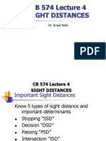 Lecture 1 Stopping Sight Distance