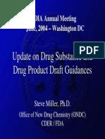 Draft Drug Starting Material GUidance