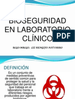 Bioseguridad en Laboratorio Clinico