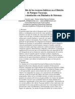 Gestión sostenible de los recursos hídricos en el Distrito de Pampas