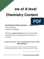 Comparison of Board Content Chemistry A-Level