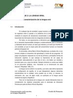 Bloque II. Tema 1. La Caracterizacion de La Lengua Oral