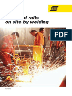 Repair of Rails on Site by Welding XA00127720