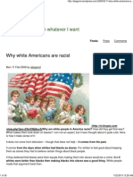 Why White Americans Are Racists
