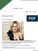 White Womans Tears
