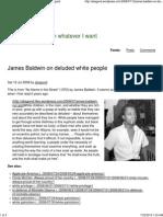 James Baldwin on Deluded White People