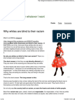 Why Whites Are Blind to Their Racism
