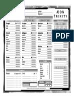 Aeon Trinity - Character Sheet