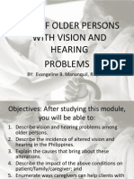 Care of the Older Person With Vision and Hearing Problems September 21, 2012