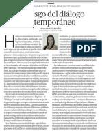 El riesgo del diálogo extemporáneo - Irma Montes Patiño