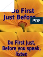 Just Before You Do
